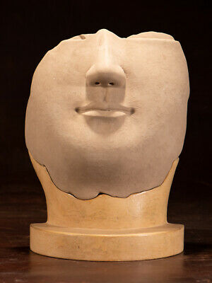 Northern Wei Dynasty Style Yongning Temple Clay Figure of Human Face POLYSTONE