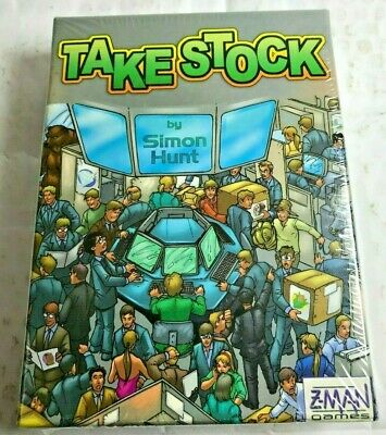 Take Stock game by Simon Hunt 2-6 player Corner the Stock Market Z-Man Games(A57