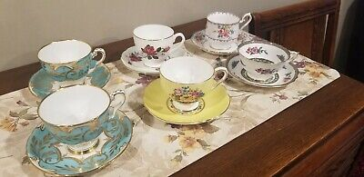 6 Teacup And Saucer Sets Bone China