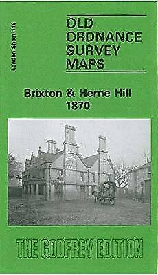 Old Ordinance Survey Maps Brixton & Herne Hill 1870, Marshall, W. W., Used; Very