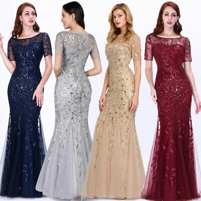 EVER-PRETTY US PLUS Size Women Short Sleeve Evening Gowns ...