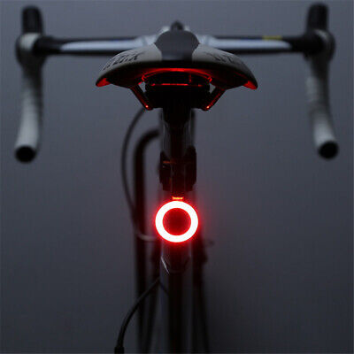 USB Rechargeable Bike Cycling Rear Light Tail Lamp LED Bicycle Safety Waterproof