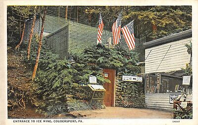 C22-2308, ENTRANCE TO ICE MINE, COUDERSPORT, PA., Postcard.