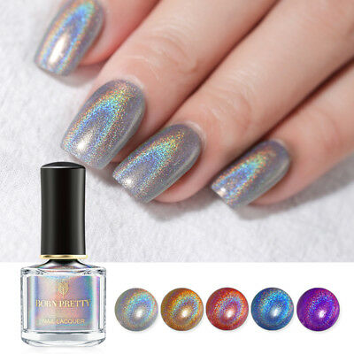 BORN PRETTY 6ml Flourish Holographic Nail Polish Laser Glitter Nail Art Varnish