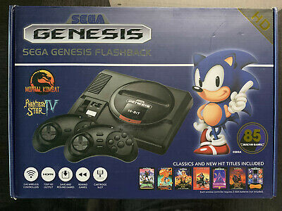 SEGA Genesis Flashback 2018 Game Console w/ Wireless Controllers 85 + 1000 Games