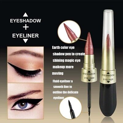 Dual-ended Metallic Shimmer Novel Liquid Eyeliner Eyeshadow Women Makeup Beauty