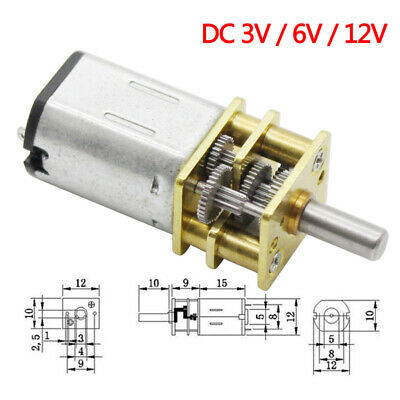 DC 3V6V12V 15~1000rpm for automotive robots N20 Micro Metal Reduction Gear Motor