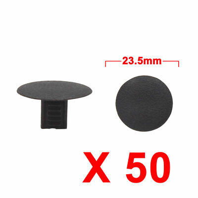 50Pcs Black Car Plastic Rivets Trunk Door Bumper Fender Fastener Clip 7 x 8mm