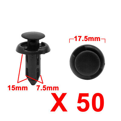 50 Fits 7.5mm Hole Plastic Clip Push Type Bumper Retainer For GM Chevy For Buick