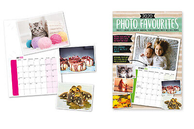 2020 Photo Favourites Create Print Your Own Photos A4 Wall Hanging Calendar
