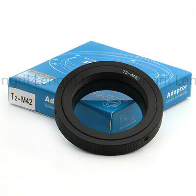 T-M42 T T2 mount lens to M42 camera adapter for Praktica Pentax Carl Zeiss 42mm