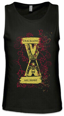 Our Blades Are Sharp Men Tank Top Game of House Bolton Sign Symbol Thrones Flag