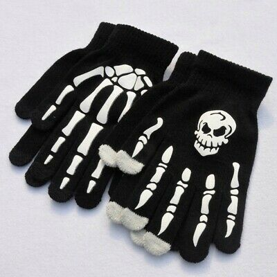 Children Boy Girl Magic Gloves Halloween Fancy Dress Skull Skeleton Trend
