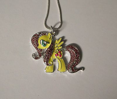 Unwanted MY LITTLE PONY Inspired Large Charm Gift NECKLACE  FLUTTERSHY