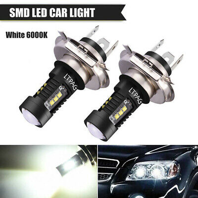 6000K Pure White 60W 1800LM Car LED Light Fog Lamp Headlight H4 9003 Light DRL
