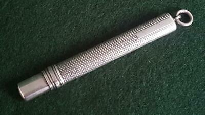 Super H/M Sterling Silver Chatelaine Needle Etui/Pencil Holder Case B'ham 1899