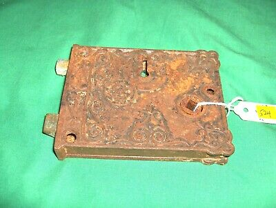 #524 -  Ornate Antique Surface Mount Door Lock Assembly