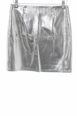 ONLY Minirock silberfarben extravaganter Stil Damen Gr. DE 34 Rock Skirt