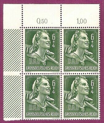 DR Nazi 3d Reich Rare WWII Stamp Hitler Jugend Country Girl with Swastika TiePin