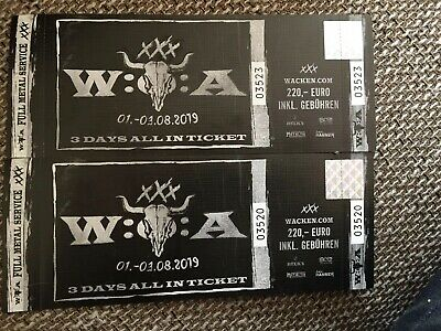 2 x Wacken Open Air 2019 - Festival Tickets - 3 Days All In
