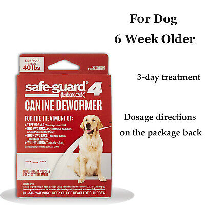 8in1 Safe-Guard Canine Dewormer for Dogs, 3-Day Treatment, for Dog 6 Weeks +