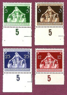 DR Nazi 3d Reich Rare WW2 WWII Hitler Stamp Mother Germany Guarding her Children
