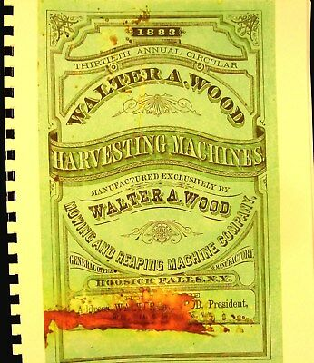 1883 Walter A.Wood Harvesting Machinery Annuual Sales Bk. 33 Pgs