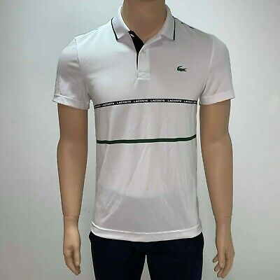 Lacoste Mens Sport Tennis Contrast Band Technical Pique Polo Shirt XS