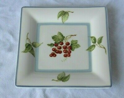 "VILLEROY & BOCH Cottage 8"" Square Salad Plate COUNTRY COLLECTION Fruit"