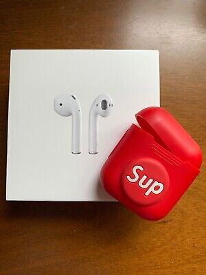 Apple AirPods 2nd Generation with Wireless Charging Case - White(supreme Case)