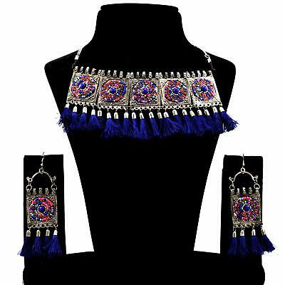 Tibetan India Ethnic Silver Oxidized Antique Tribal Gypsy Fashion Chokr Necklace
