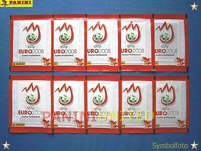 Panini★EURO 2008 EM 08★ 10x rote Tüten/packets/bustine/pochettes - sealed