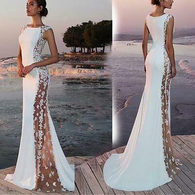 Women Lace Long Formal Wedding Evening Ball Gown Party Prom Bridesmaid Dresses