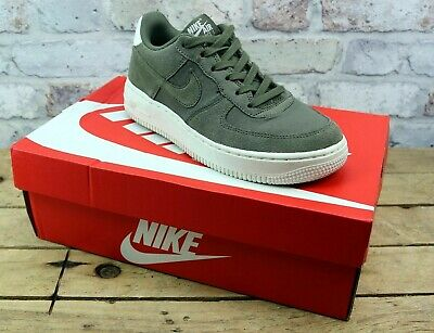 Kids Nike Air Force 1 Ps Khaki Suede Uk Size 1 Youth