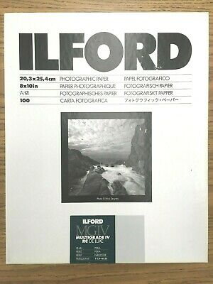 "ILFORD MULTIGRADE IV RC DE LUXE Paper (Pearl, 8 x 10"", 100 Sheets)"