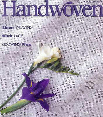 Handwoven magazine mar/apr 1997: tablecloth, towels, napkins, vest, linen scarf