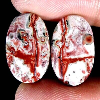 Bird Eye Jasper Natural Exclusive Matched Pair Oval Cab Gemspair 13.30Cts.