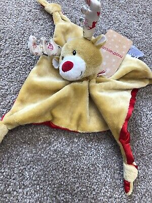 Mothercare Reindeer Baby Comforter Blankie Christmas Rudolph