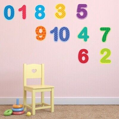 Arabic Digital Wall Stickers Kids Room Bedroom Early Education Learning Decals