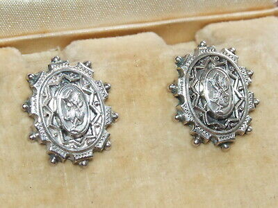 Very Rare, Antique c1890 Victorian Sterling Silver Earrings *Beautiful Example*