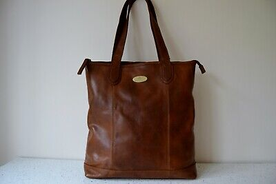 Rowallan Tan Leather Large Twin Handle Ious Shoulder