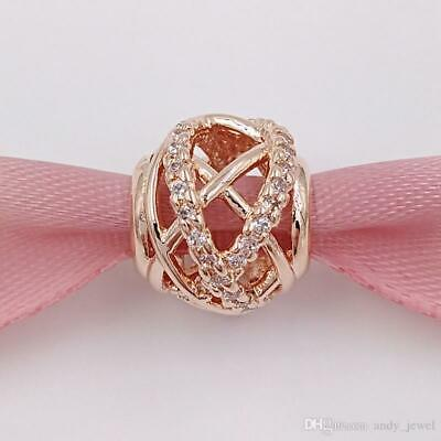 New Genuine Pandora Rose Gold Galaxy Openwork Bead Charm 781388Cz Uk Gift