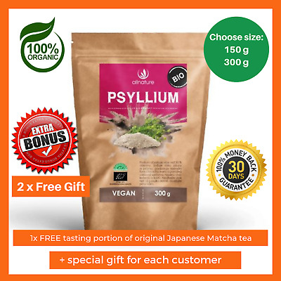 Organic Psyllium Husk Powder Natural Fibre Dietary Colon Cleanse Weight Los