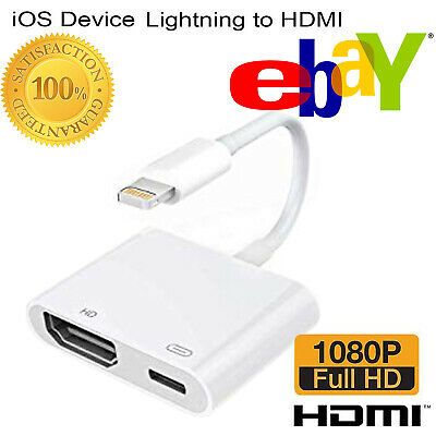 New Lightning to HDMI Digital AV TV Adapter Cable For iphone XS 5s 6 7 8 X Plus