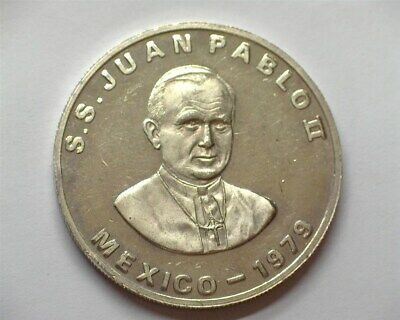 "MEXICO 1979 ""POPE JOHN PAUL II"" 1oz SILVER MEDAL CHOICE UNCIRCULATED"