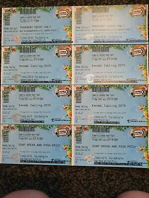 2x Kendal Calling Tickets + Thursday + Great Plains Camping + Soap Opera And...