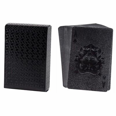 Waterproof Playing Cards, 2 Standard Decks of Luxury Black Plastic Poker Cards