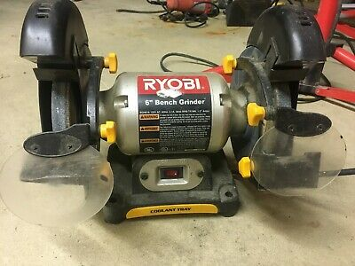 Enjoyable Ryobi Bench Grinder 6 In 2 1 Amp W Led Lights Heavy Gauge Alphanode Cool Chair Designs And Ideas Alphanodeonline