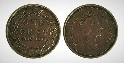 Canada 1908 - 1998 Proof Large Cent With Antique Finish!!