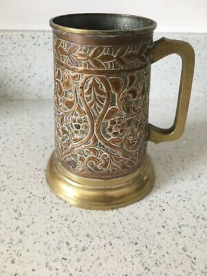 Arts & Crafts Handmade Copper & Brass Tankard Intricate Design Newlyn School?